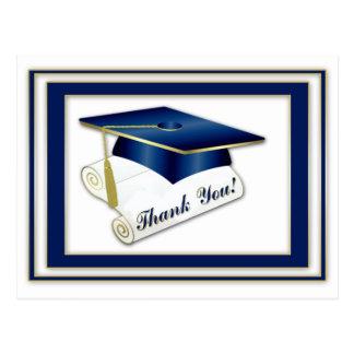 Graduate Royal Blue Thank You Postcard
