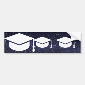 Graduate Salutes Sign Car Bumper Sticker