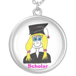 Graduate Scholar Cartoon Necklace