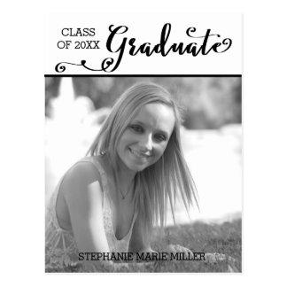 Graduate Script Vertical - Postcard