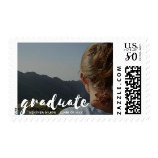 Graduate Script with Photo Postage