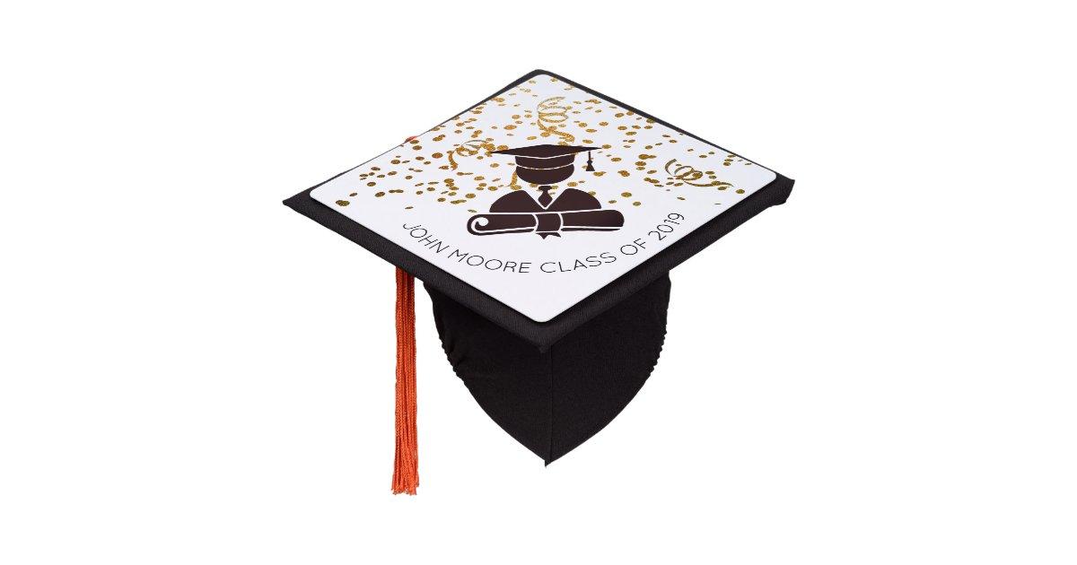 Graduate Silhouette Confetti, And Diploma Graduation Cap ...