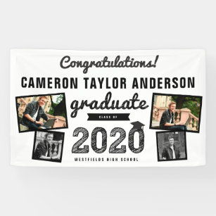 2020 Graduation Banners Class of 2020 Hanging Flags School Party Decor 180*100cm