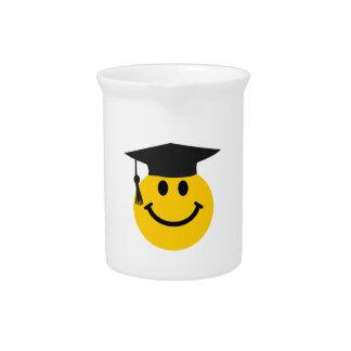 Graduate smiley face beverage pitcher