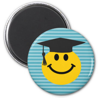 Graduate smiley face magnet