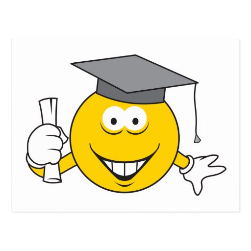 Graduate Smiley Face Postcard