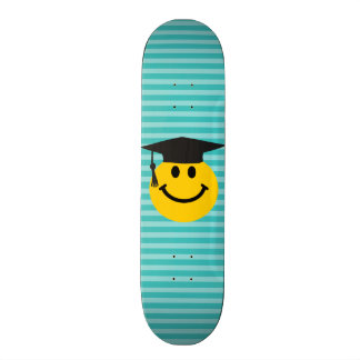 Graduate smiley face skateboard