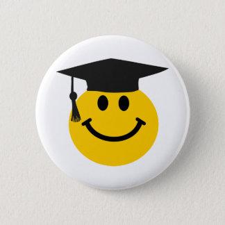 Graduate Smiley face with graduation hat Button