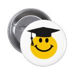 Graduate Smiley face with graduation hat Pinback Button