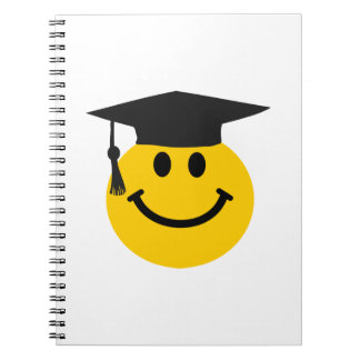 Graduate Smiley face with graduation hat Notebook