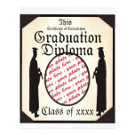 Graduate Standing Tall Diploma  Frame Custom Flyer