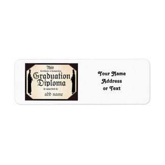 Graduate Standing Tall Diploma Label