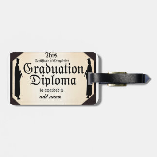 Graduate Standing Tall Diploma Tag For Luggage
