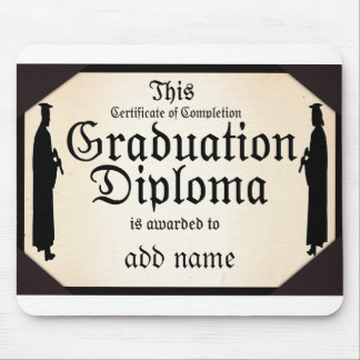 Graduate Standing Tall Diploma Mouse Pad