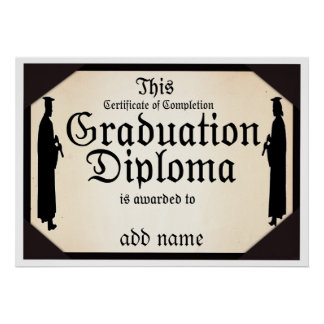 Graduate Standing Tall Diploma Posters