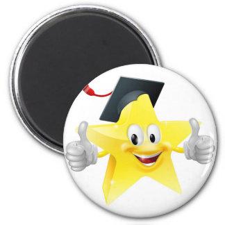 Graduate star mascot magnet