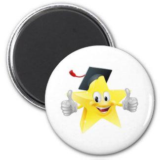 Graduate star mascot magnets