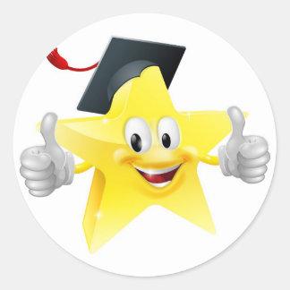 Graduate star mascot stickers