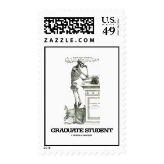 Graduate Student (Vesalius Skeleton Genius) Postage Stamps