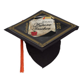 Graduate | Teacher | Vintage Style Graduation Cap Topper