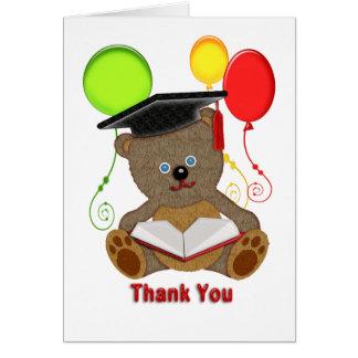 Graduate Teddy Bear Balloons Thanks Card