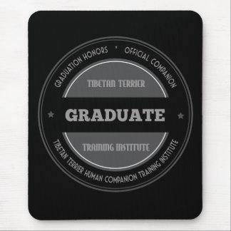 Graduate Tibetan Terrier Training Institute Black Mouse Pad