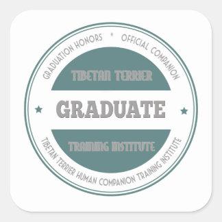 Graduate Tibetan Terrier Training Institute Green Square Sticker
