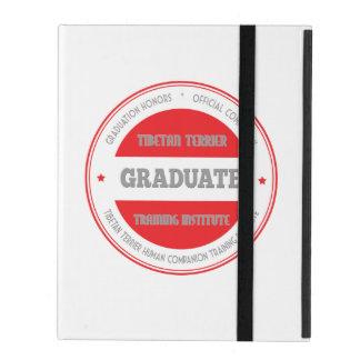 Graduate Tibetan Terrier Training Institute Red iPad Folio Case