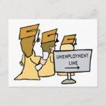 Graduate Unemployment Humor Announcement Postcard