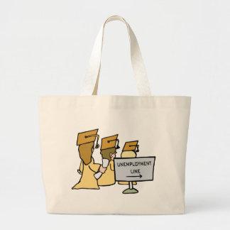 Graduate Unemployment Humor Large Tote Bag