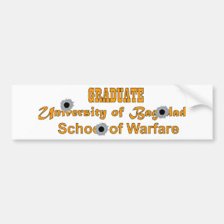 Graduate-University of Baghdad-School of Warfare Bumper Sticker