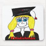 Graduate Valedictorian Cartoon Mousepad