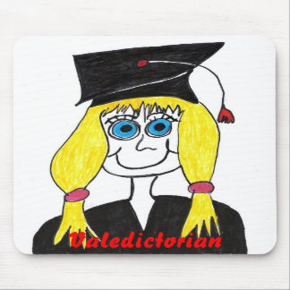 Graduate Valedictorian Cartoon Mousepad