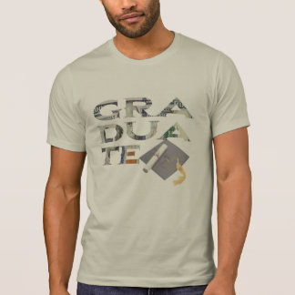 graduate with 100 dollar bill background t-shirt