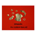 Graduate, you outshine them all! post cards
