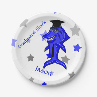 Graduated Shark 7 Inch Paper Plate