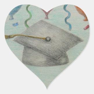 graduateion celebration heart sticker