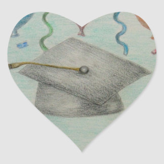 graduateion celebration heart stickers