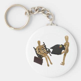 GraduateJobLooking051009 Basic Round Button Keychain