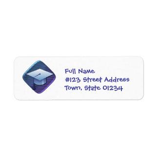 Graduates Cap Mailing Labels