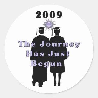 Graduates Journey Classic Round Sticker