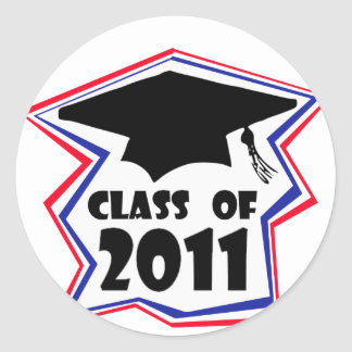 Graduating Class of 2011 Classic Round Sticker