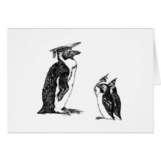 Graduating Penguins Tip Hats to Don Card