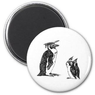 Graduating Penguins Tip Hats to Don Refrigerator Magnet