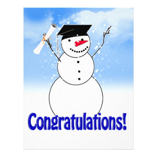 Graduating Snowman With Diploma Flyer