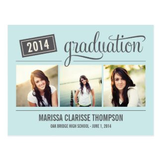 Graduating Year Graduation Announcement Invite Post Card
