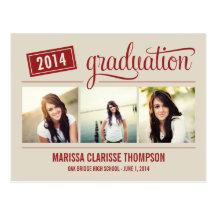 Graduating Year Graduation Announcement/Invite Postcard