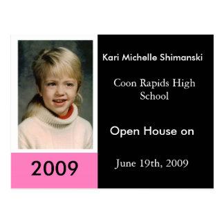 graduation2009 Girl Postcard