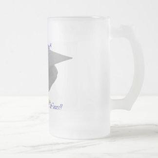 Graduation 16 Oz Frosted Glass Beer Mug