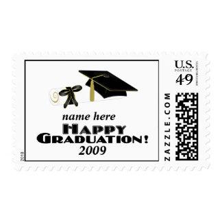 ¡Graduation-1-Customized feliz él! Estampillas